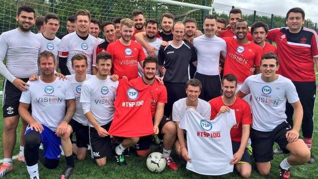 Southampton footballers in record attempt