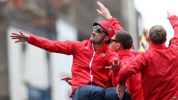 Jack Wilshere during victory parade