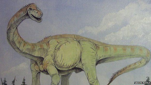 Artist's impression of a sauropod