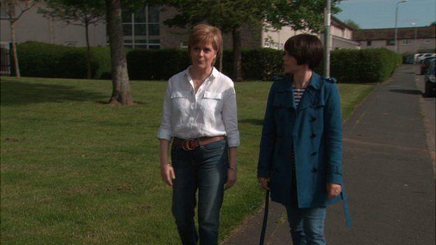 Nicola Sturgeon and Shelley Jofre