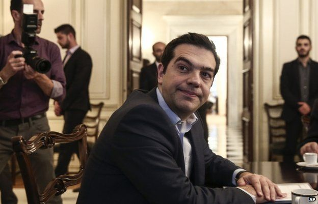 Greek Prime Minister Alexis Tsipras in Athens on 28 May 2015