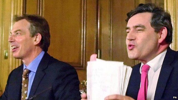Tony Blair and Gordon Brown in 2003
