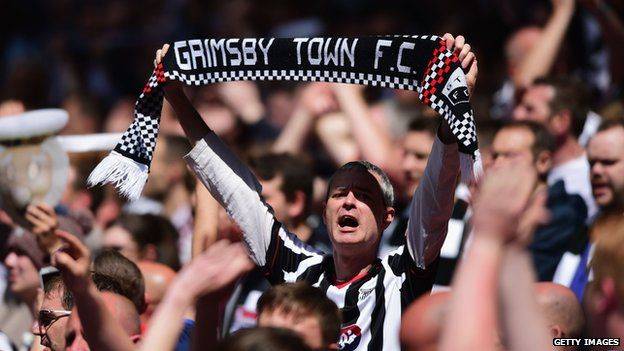 Grimsby Town FC supporter