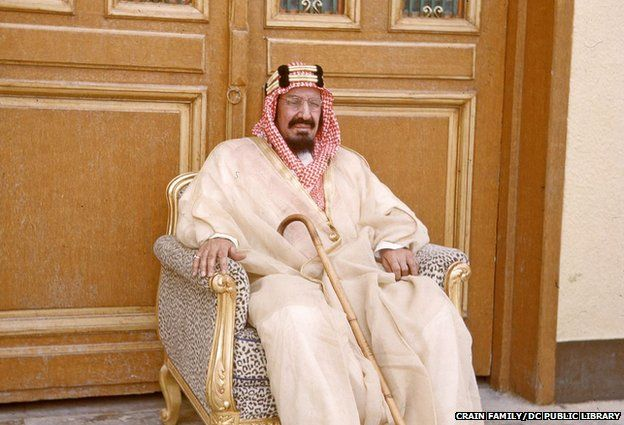 Ibn Saud rests in 1950