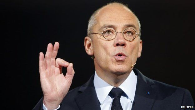 French telecom operator Orange Chairman and Chief Executive Officer Stephane Richard speaks during a conference to unveil the company 2020 strategy plan in Paris March 17, 2015.