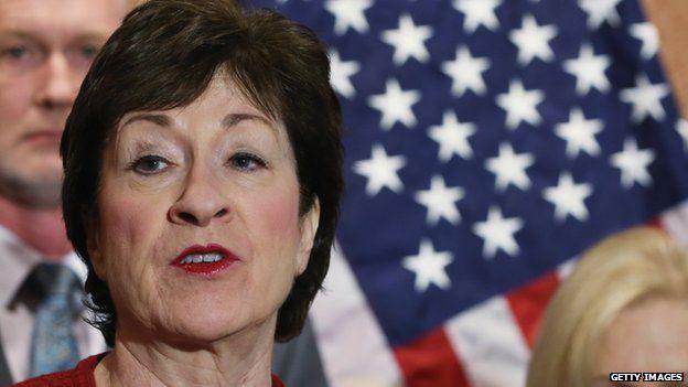 US Senator Susan Collins in Washington. 2 Dec 2014