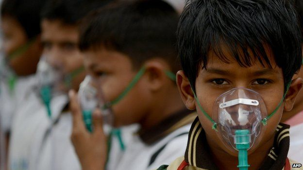 An increasing number of children are suffering from lung diseases