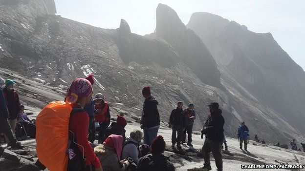 Hikers are trapped on the mountain of Gunung Kinabalu, Sabah state