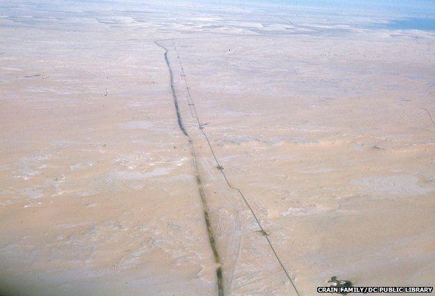 An oil pipeline