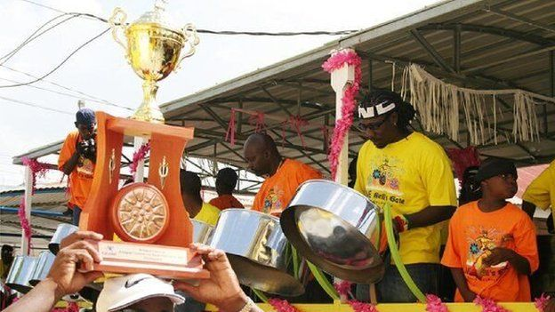Antigua's annual 'Panorama' contest is one of the highlights of Carnival