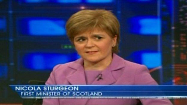 Nicola Sturgeon on the Daily Show with Jon Stewart