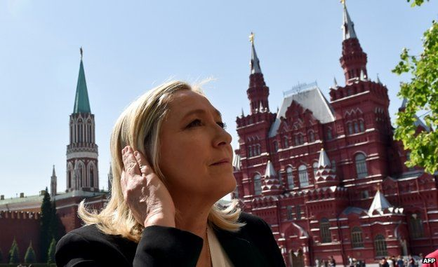 French National Front Leader Marine Le Pen visited Moscow on 26 May