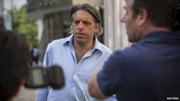 Aaron Davidson, head of Traffic Group's US unit, leaves court in New York after his arraignment for alleged involvement in the Fifa corruption scandal - 29 May 2015