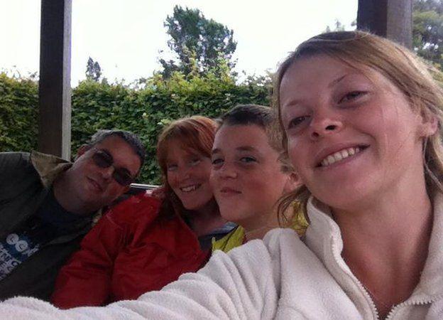 Steven Underhill, Tracey Underhill, Spencer Underhill and Toni Underhill
