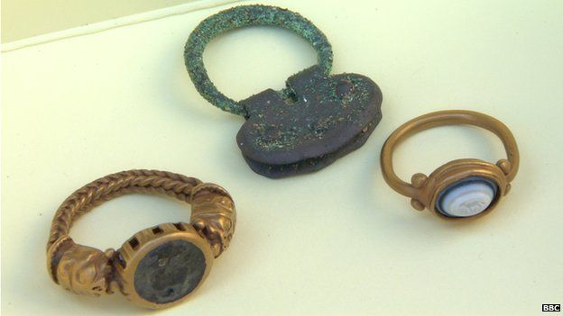 Roman artefacts found by Brian Murray