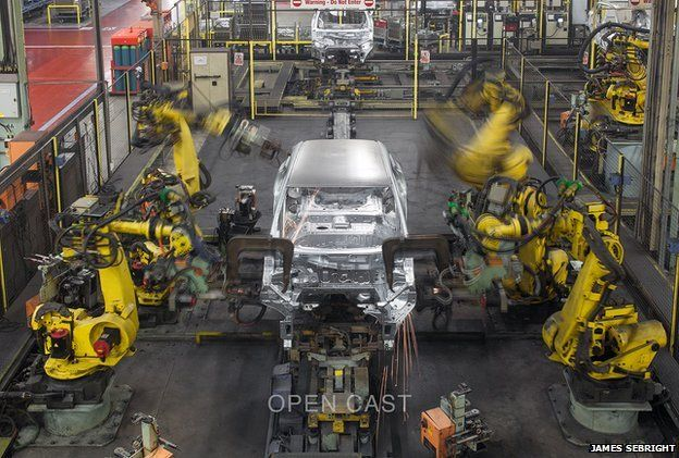 Car on Nissan production line