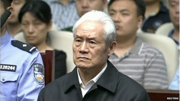 Zhou Yongkang, China's former domestic security chief, attends his sentence hearing in a court in Tianjin, China, in this still image taken from video provided by China Central Television and shot on 11 June 2015
