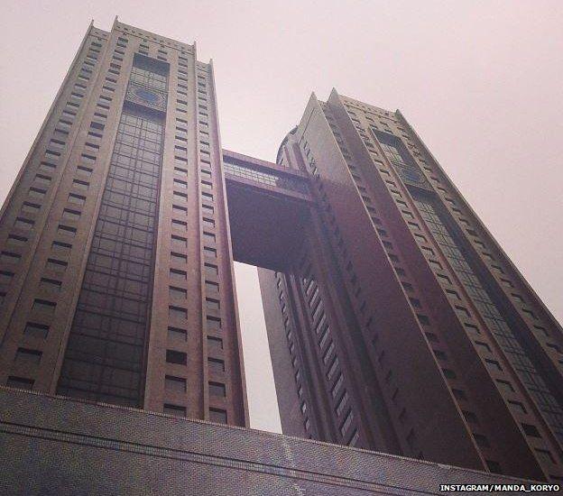 Instagram image of the Koryo Hotel in Pyongyang