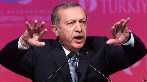 Turkey's President Recep Tayyip Erdogan makes a speech during a graduation ceremony in Ankara