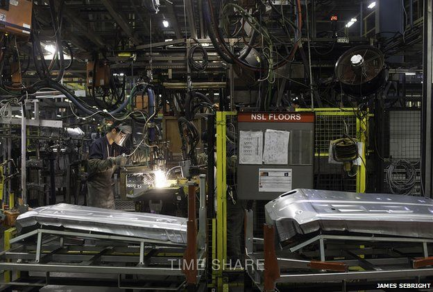 Worker at Nissan factory