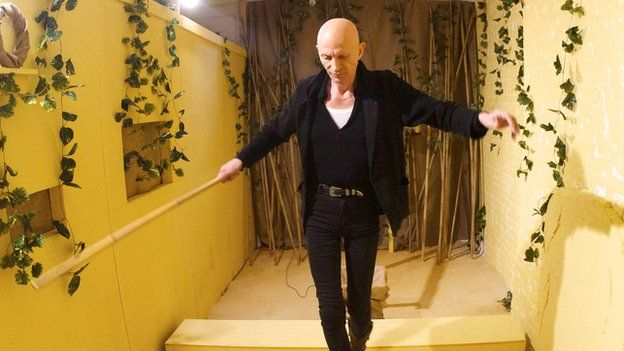 Richard O'Brien in one of the test game rooms for the new immersive event.