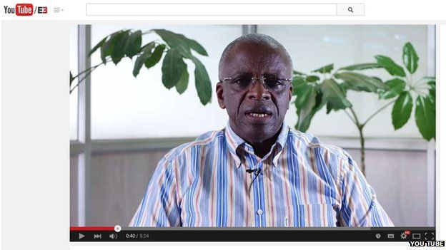 Amama Mbabazi made the announcement on You Tube