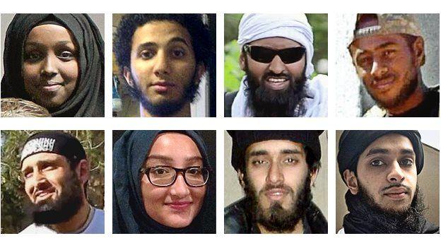 Composite pic of British jihadists
