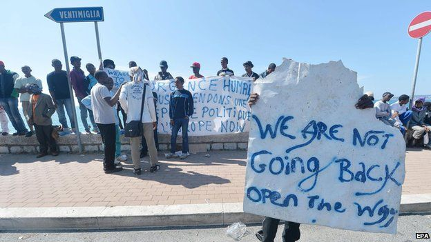 Migrants at Ventimiglia