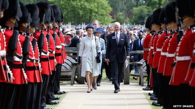 Princess Anne attends a Magna Carta 800th Anniversary Commemoration Event