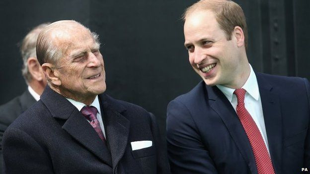The Duke of Edinburgh and the Duke of Cambridge were among guests at the event