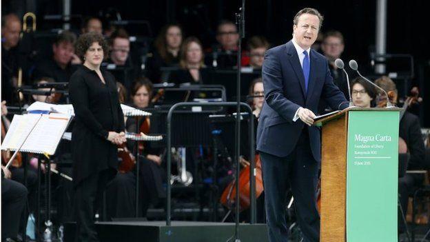David Cameron at Magna Carta event