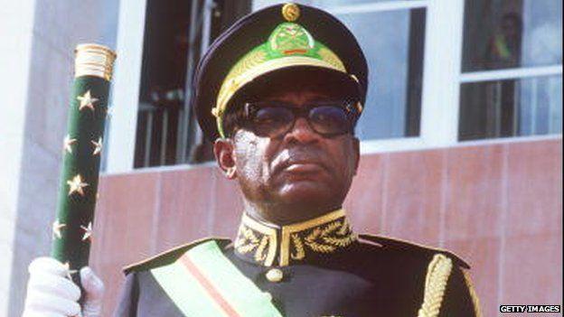 Congolese former leader Mobutu Sese Seko