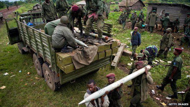 Troops in DRCongo in 2008