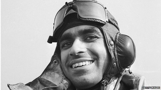 1941: An Indian air force pilot from Punjab in England.