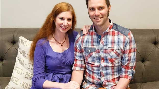 """Karen and Martin, who have now been married 10 years, said a humanist wedding was the """"obvious choice"""" for them"""
