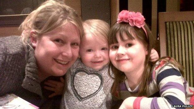 Laura Pulley and her daughters