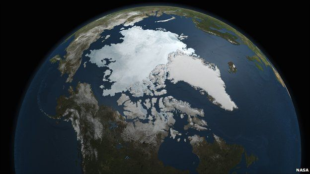 The Arctic from space
