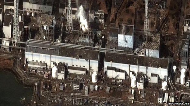 Aerial photo of Fukushima site