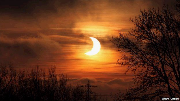 Partial eclipse in 2011 Andy Green