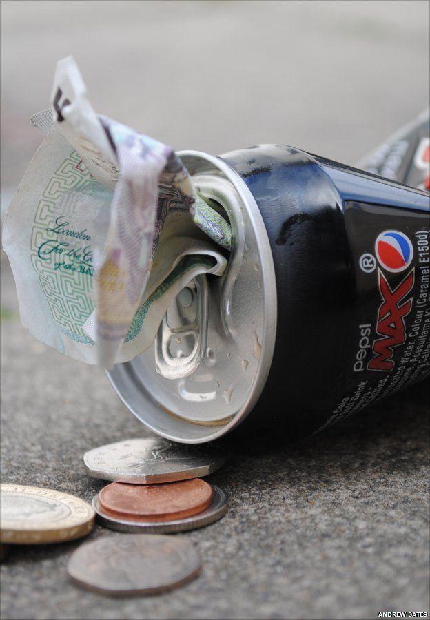 Money and rubbish