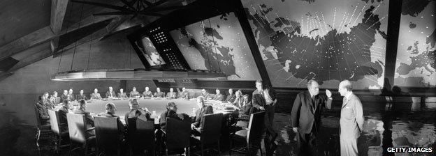 On the set of Stanley Kubrick's Dr Strangelove or How I Learned to Stop Worrying and Love the Bomb