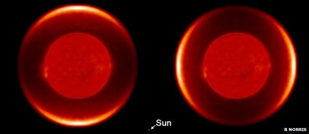 Polarised model images of W Hydrae