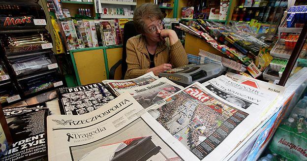 Newspaper kiosk in Poland
