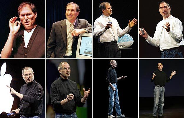 Six images of Steve Jobs (Getty Images)