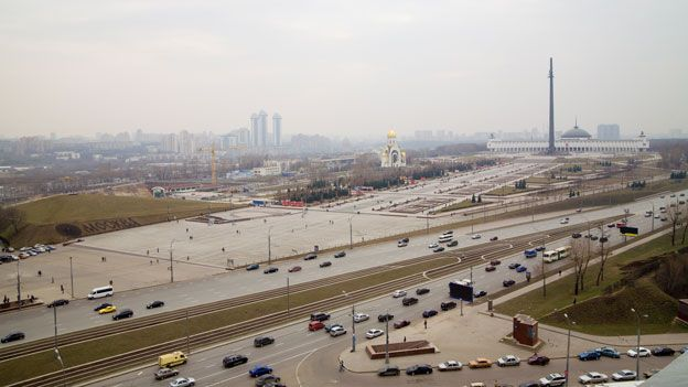 Kutuzovsky Prospekt and the Victory Park