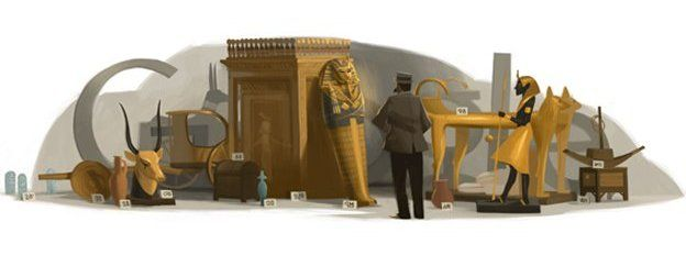 Doodle celebrating Howard Carter's 138th birthday