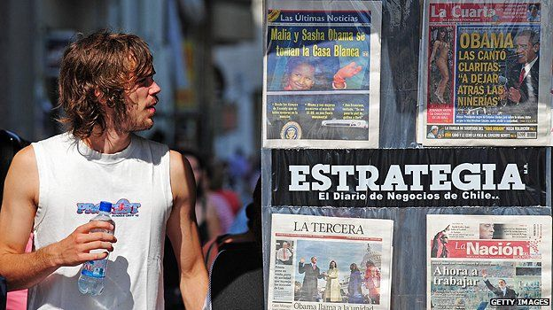 News stand in Santiago