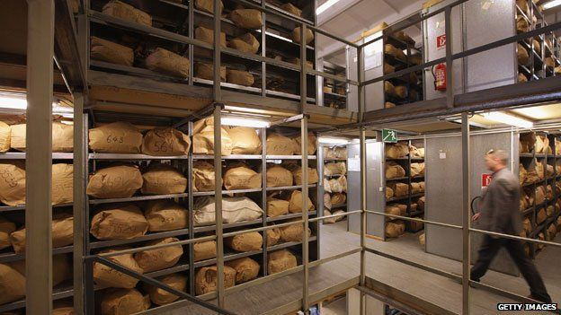 Sacks of Stasi documents