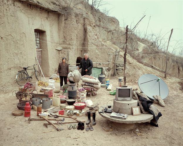 Elderly Chinese farmers