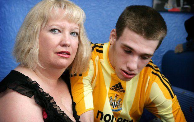 Sharon Bernardi and her son Edward